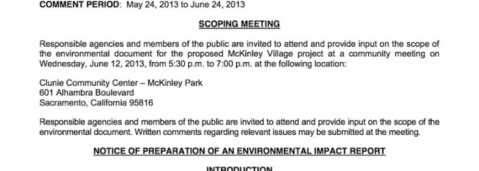McKinley Village Environmental Impact Study