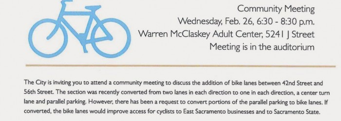 East Sac J Street Bike Lane Meeting