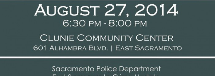 East Sac Community Meeting About Crime