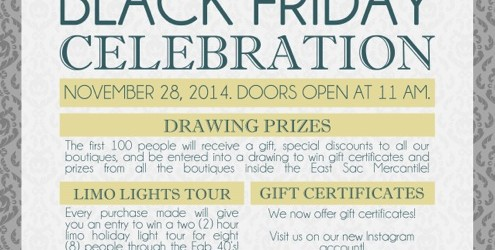 Black Friday Celebration at East Sac Mercantile
