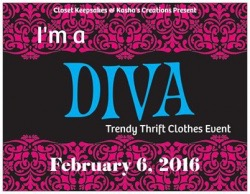 I'm a Diva Trendy Thrift Clothes Event