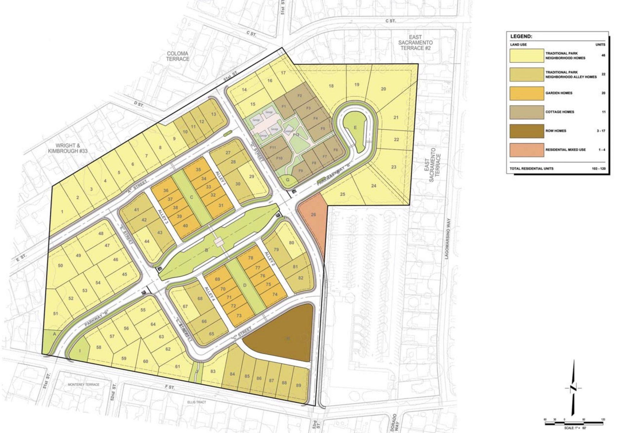 Sutter Park Neighborhood Map East Sac